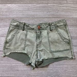 BKE Light Green Cutoff Shorts Women's 28 X22